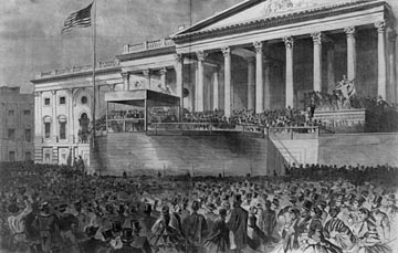 thesis of lincolns first inaugural address Abraham lincoln's first inaugural address when abraham lincoln won the presidency in 1860 the union was divided he accepted his presidential duties knowing.
